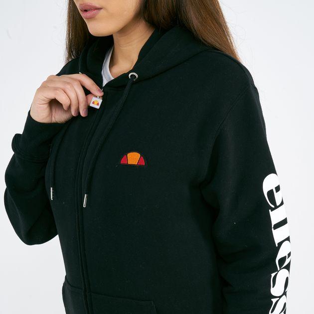 ellesse Damen Serinatas Zip Hoodie Sweatshirt