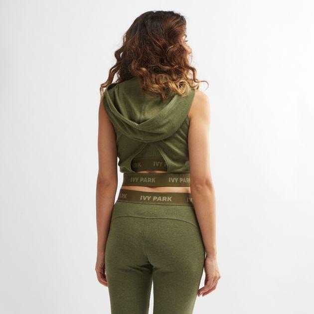 fa50c0835da7ba IVY PARK Hooded Crossover Back Sleeveless T-Shirt