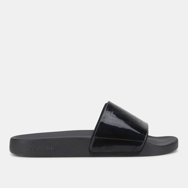 c08ef0799 IVY PARK Hi Shine Embossed Logo Slides | Sandals and Flip-Flops ...