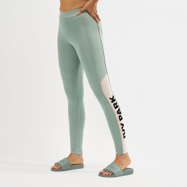 179e316f9d8b07 IVY PARK Sheer Flocked Active Logo Leggings | Full Length Leggings ...