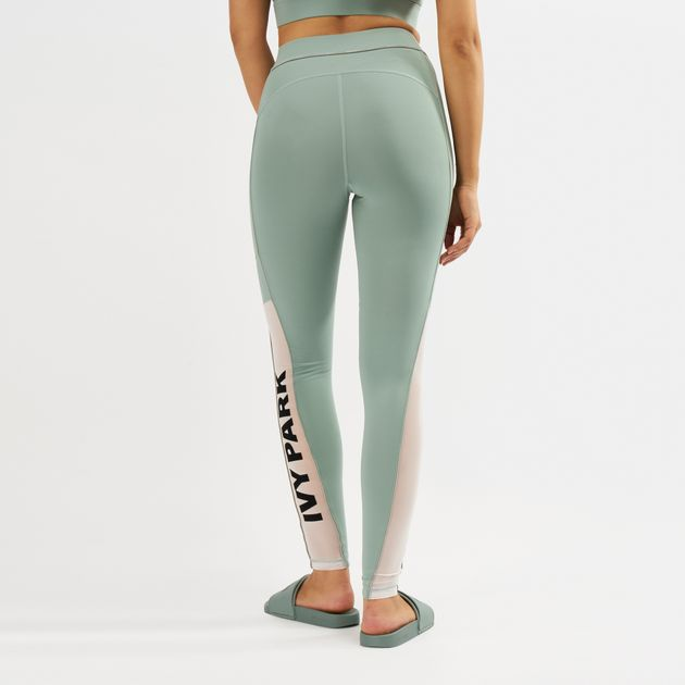 ccf5251e18288a Ivy Park Sheer Flocked Active Logo Leggings | Full Length Leggings ...