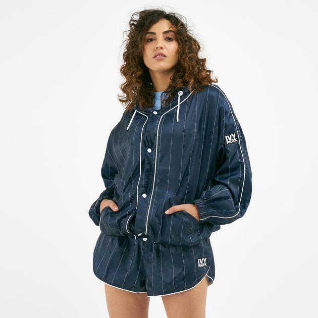 f428008dfd06f IVY PARK Women's Baseball Stripe Running Jacket   Jackets   Clothing ...