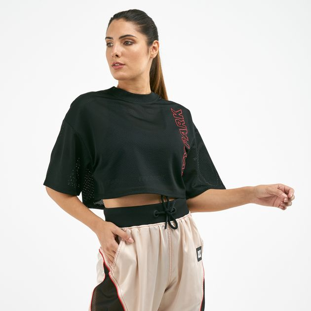 80bd3c0491b IVY PARK Women's Craft Mesh Crop T-Shirt | T-Shirts | Tops ...