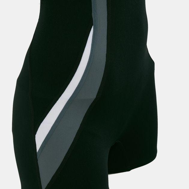 110678c812620 Nike Women's Poly Solid Power Back Leg Suit   Leggings   Swimwear ...