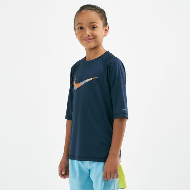 8f86712d Nike Swim Kids' Mash Up Hydroguard Rash T-Shirt (Younger Kids ...