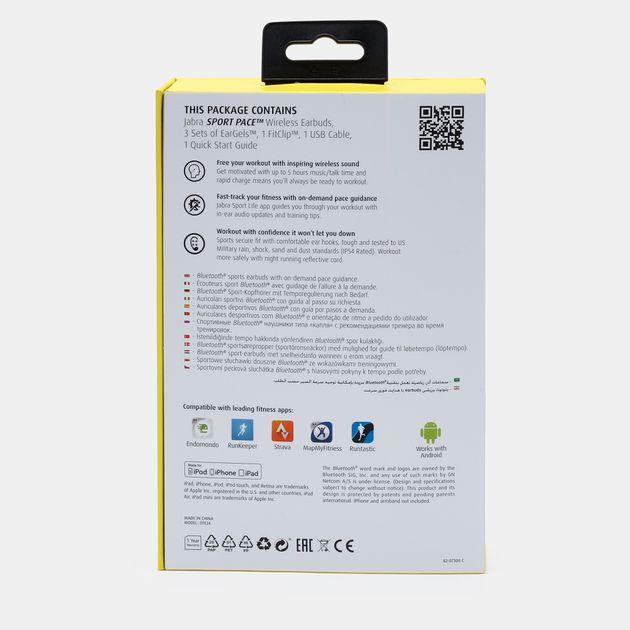Jabra® Sport Pace Wireless Bluetooth Headset - Yellow, 260339