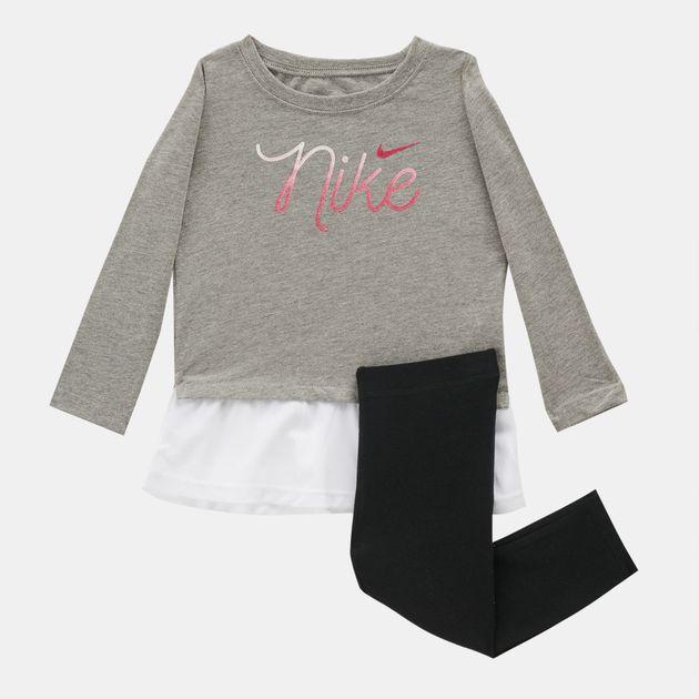 7874e6c037 Nike Kids' Script Mesh Long Tunic And Leggings Set (Baby and Toddler ...