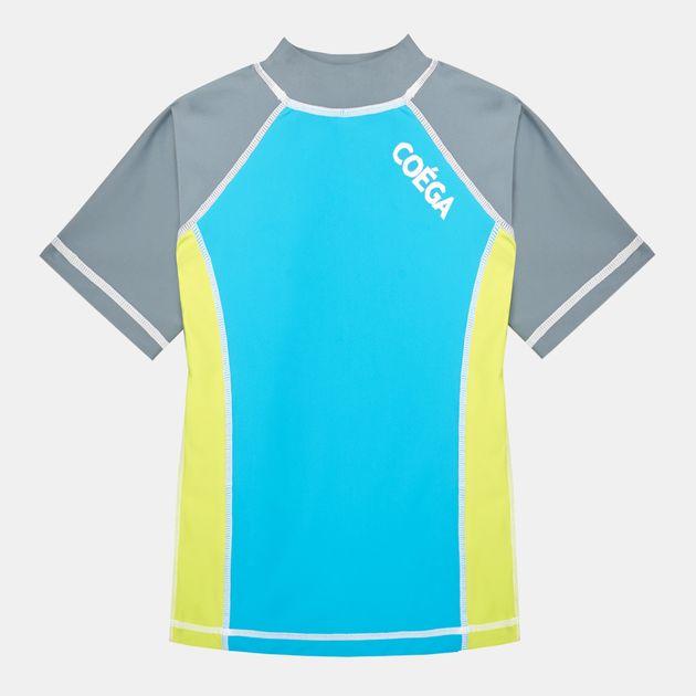 COÉGA Kids' Short-Sleeve Rashguard Swimshirt