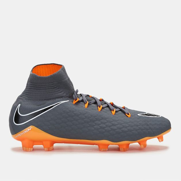 dd3891762a04 Shop Grey Nike HyperVenom Phantom 3 Pro Dynamic Fit FG Football Shoe ...