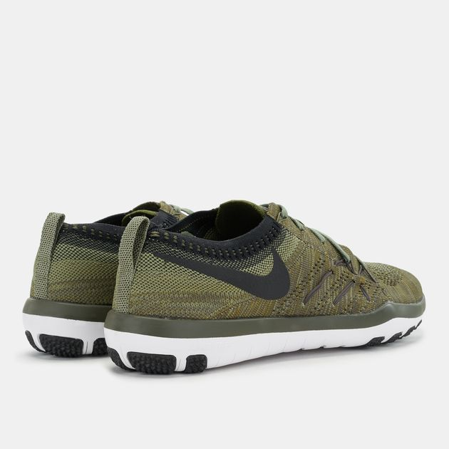 Shop Green Nike Free TR Focus Flyknit Shoe for Womens by