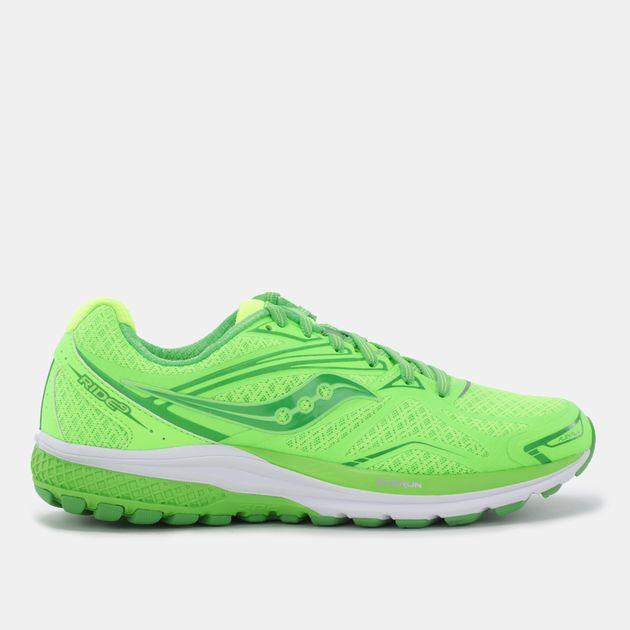 buy popular 1a0f3 fcae8 Shop Green Saucony Ride 9 Running Shoe - Run pops for Womens ...