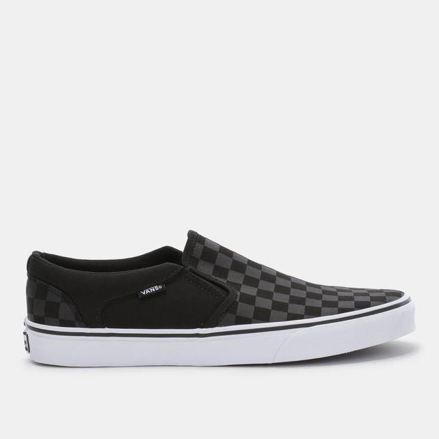 de761f260dcf09 Shop Grey Vans Asher Slip-On Shoe for Mens by Vans