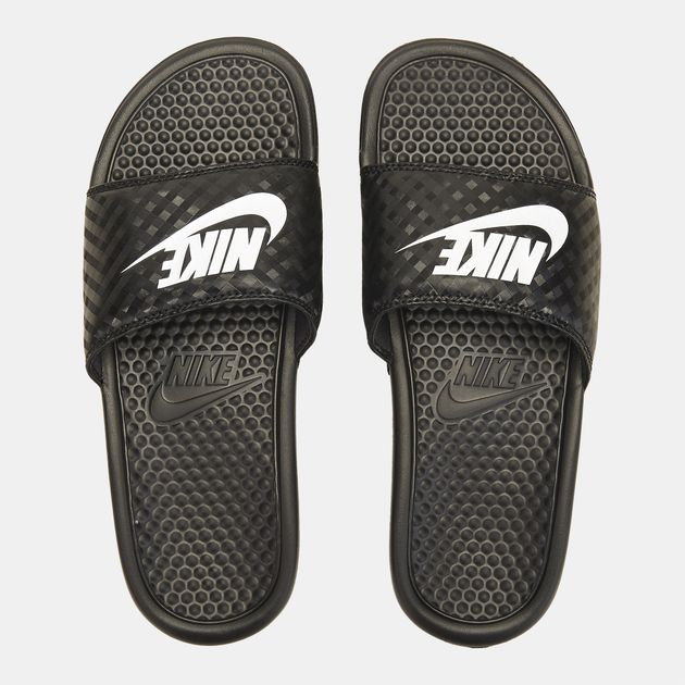 Shop Black Nike Benassi Sandals for Womens by Nike  a94fdc5f08f7
