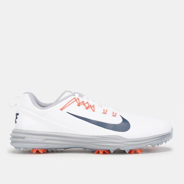 08cb774453615 Shop White Nike Golf Lunar Command 2 Shoe | Golf Shoes | Shoes ...