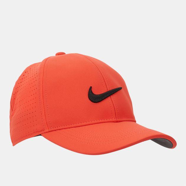 Shop Orange Nike Golf Legacy 91 Perforated Cap for Mens by Nike Golf ... b13b02c3ae06