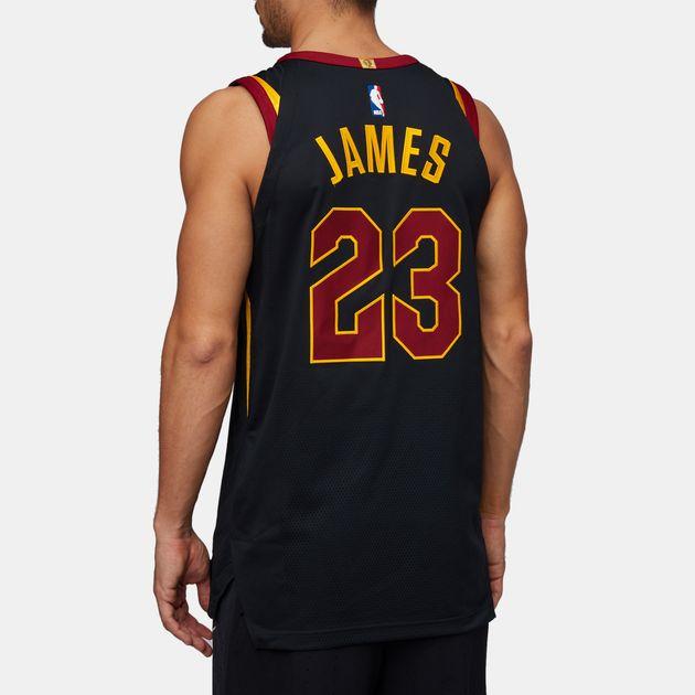 the latest 90b77 108e6 Shop Black Nike NBA Cleveland Cavaliers LeBron James ...