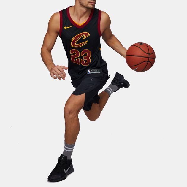 the latest 64284 a65fb Shop Black Nike NBA Cleveland Cavaliers LeBron James ...