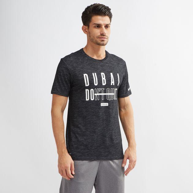 9ab4de25 Shop Black Nike Dri-FIT Dubai Dont Quit/ Dubai Do it T-Shirt for ...