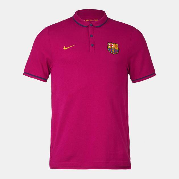 Shop Purple Nike Fc Barcelona League Authentic Polo T Shirt For Mens