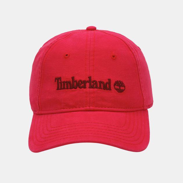 Timberland Logo Baseball Cap - Red