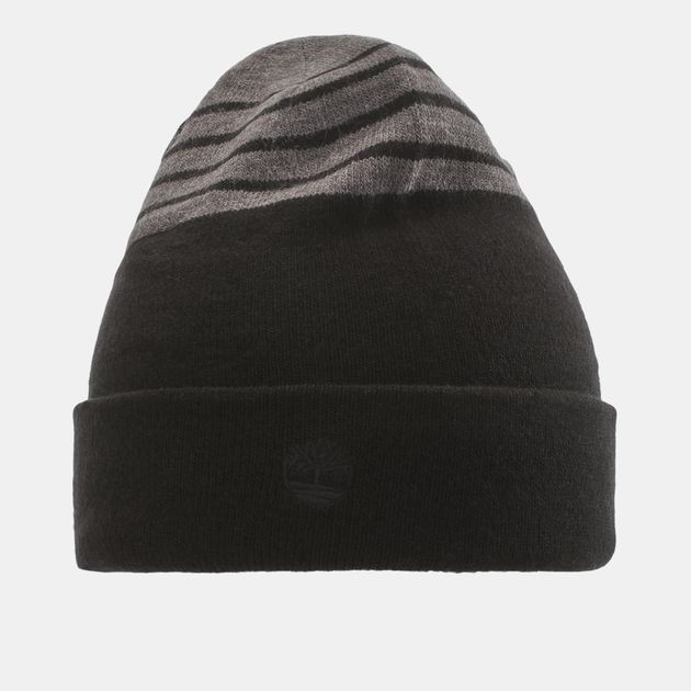 Timberland Reversible Stripe Beanie - Black