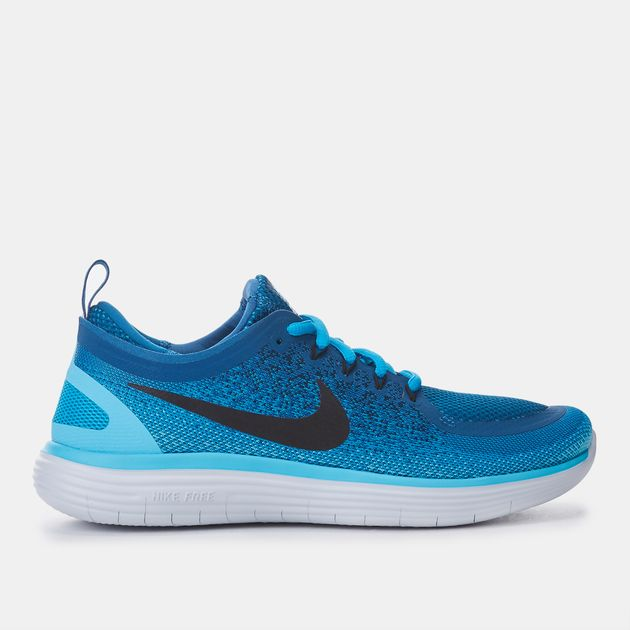 d9c8ad269ea0 Shop Blue Nike Free RN Distance 2 Running Shoes for Womens by Nike