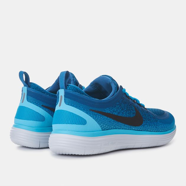 huge selection of 2e739 042cb Shop Blue Nike Free RN Distance 2 Running Shoes for Womens ...