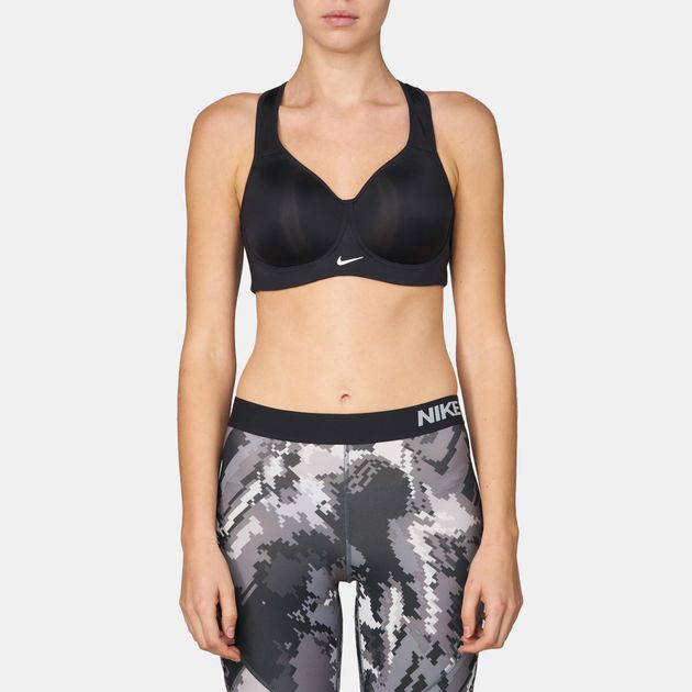 a6499abda Shop Black Nike Pro Rival High Support Sports Bra for Womens by Nike ...