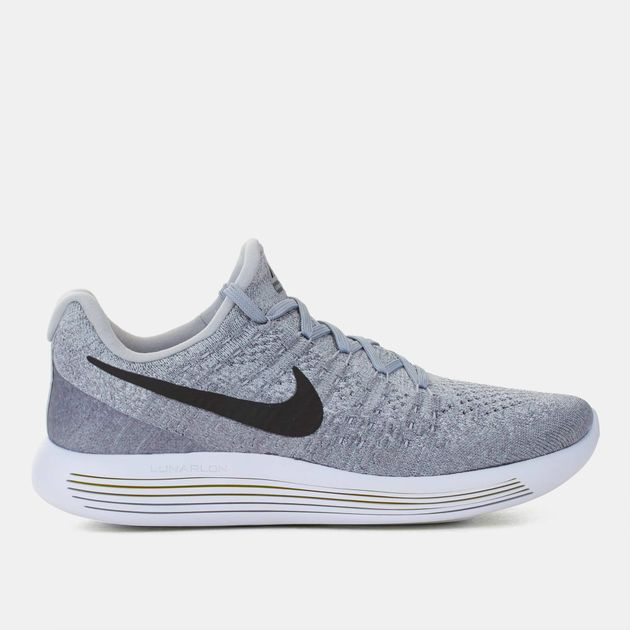 c7eac4164f11 Shop Grey Nike LunarEpic Low Flyknit 2 Running Shoe for Womens by ...