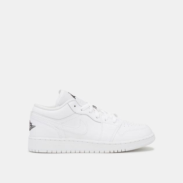 detailed pictures 17021 229b6 Shop White Jordan Kids' Air Jordan 1 Low Shoe (3-6, Boys ...