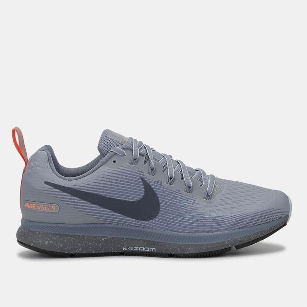 8f8562555ed61 Shop Grey Nike Air Zoom Pegasus 34 Shield Running Shoe for Womens by ...