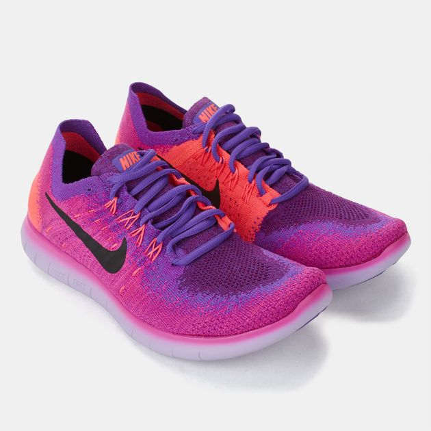 sale retailer 38265 e29ed Shop Pink Nike Free RN Flyknit 2017 Shoe for Womens by Nike ...