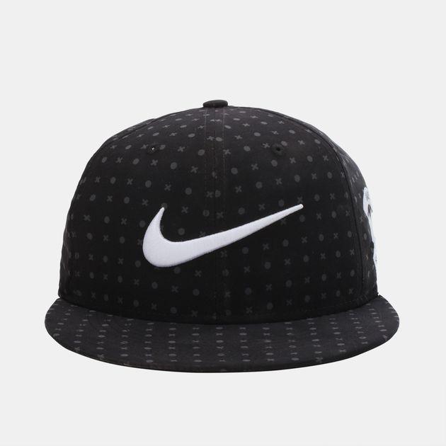53642dcd4c23e Shop Black Nike Football X AOP True Snapback Hat for Mens by Nike