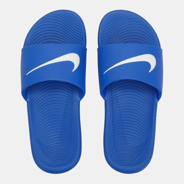 0fecd606f60 Shop Blue Nike Kids  Kawa Slides for Kids by Nike