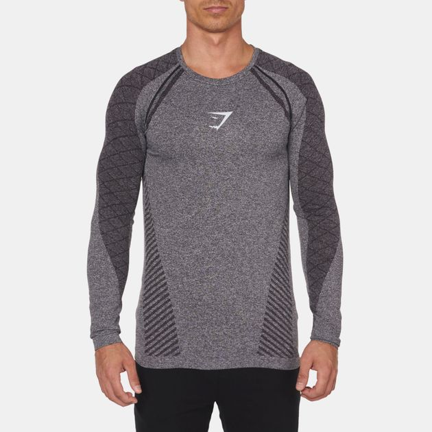 0ee3bc103714a Shop Gymshark Seamless Devant Long Sleeve T-Shirt for Mens by ...