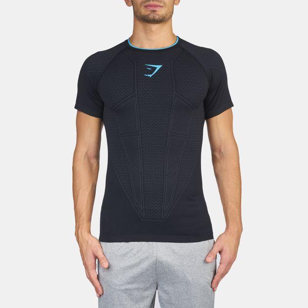 850dd4efb3715 Shop Gymshark Seamless Onyx T-Shirt for Mens by Gymshark