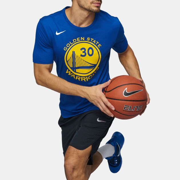 Shop Blue Nike NBA Golden State Warriors Stephen Curry Dry T-Shirt ... 79e254cbe