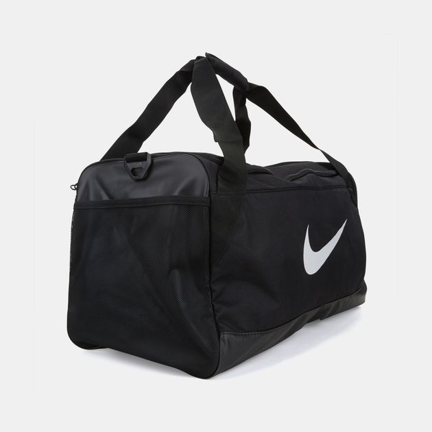 9f215322a5e4 Shop Black Nike Brasilia Medium Duffle Bag for Mens by Nike