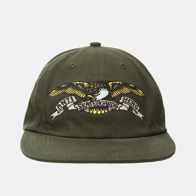 549d3227 Shop Green Antihero Adjustable Eagle Trucker Cap for Mens by ...
