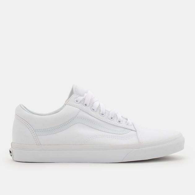 52665dd83b Shop White Vans Canvas Old Skool Shoe for Unisex by Vans