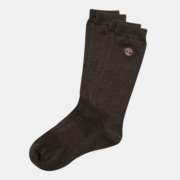 4eb86746bea69 Timberland Men's Embroidered Logo Crew Socks (2 Pack)   Crew Socks ...