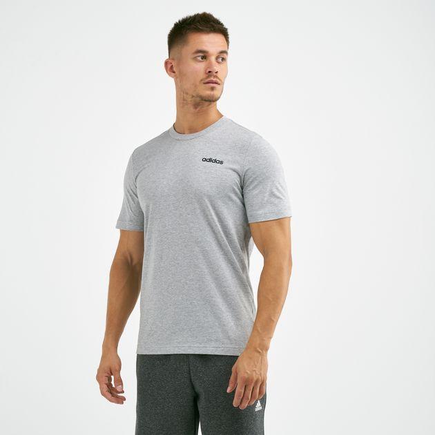 adidas Essentials Plain T Shirt Grey | adidas UK