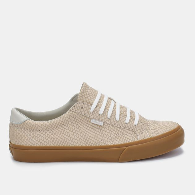 f5f8ec7eb6 Shop Beige Vans Snake Leather Court Shoe for Mens by Vans