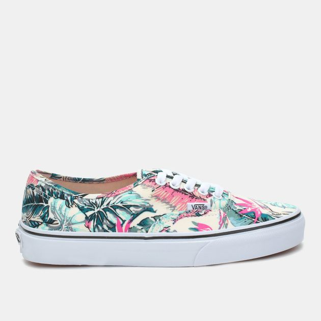 47fad0313dc80b Shop Multi Vans Hawaiian Floral Authentic Skate Shoe for Womens by ...