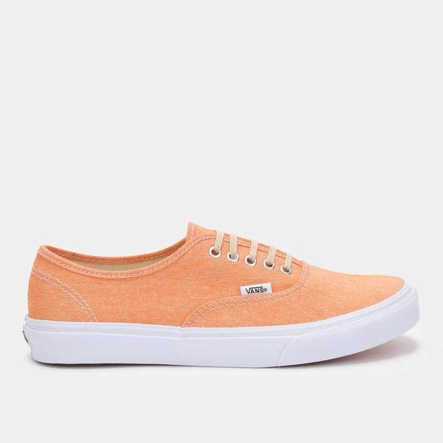 a2d342a14467 Shop Orange Vans Authentic Slim Shoe for Womens by Vans