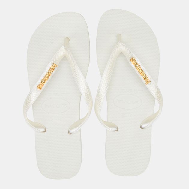 3962b2a76b0be Havaianas Women s Top Logo Metallic Flip Flops