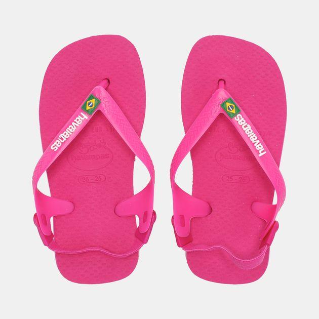 a5e11f80118b Shop Pink Havaianas Kids  Baby Brazil Logo Flip Flop for Kids by ...