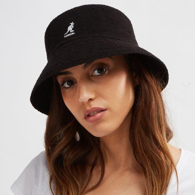 9cfdaa4ba59015 Shop Black Kangol Bermuda Bucket Cap for Womens by Kangol | SSS