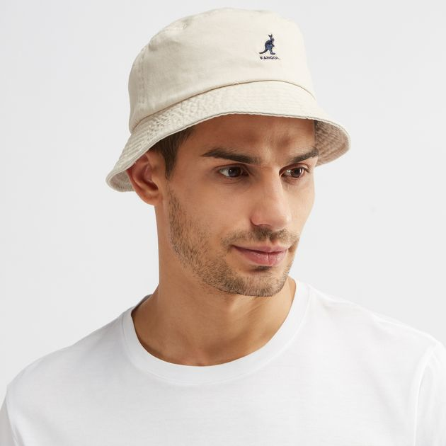Shop Beige Kangol Washed Bucket Cap for Mens by Kangol  a8ec1256228