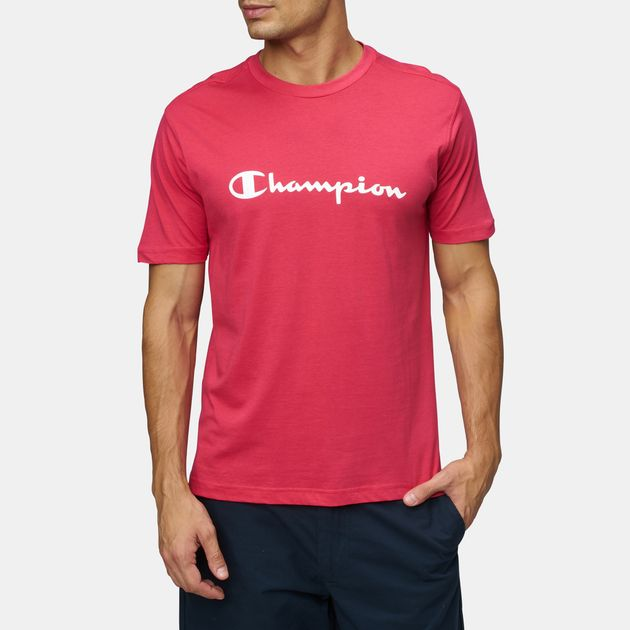 9937c6e89e36 Shop Red Champion Crewneck T-Shirt for Mens by Champion | SSS